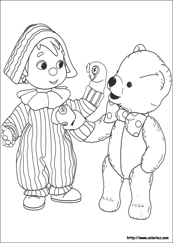coloriage 10 dessin Andy Pandy