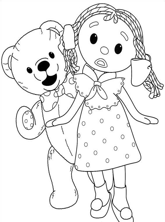 coloriage 5 dessin Andy Pandy