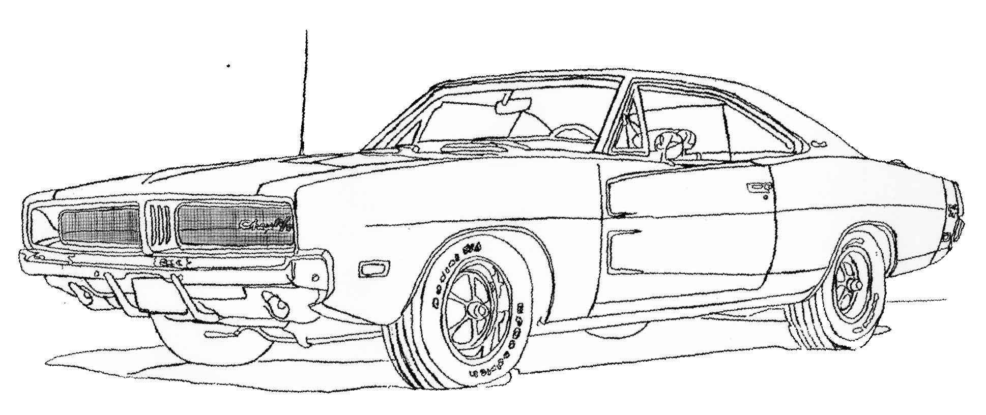 Coloriage Camaro Les Beaux Dessins De Transport 224 Dodge Charger Para Colorir