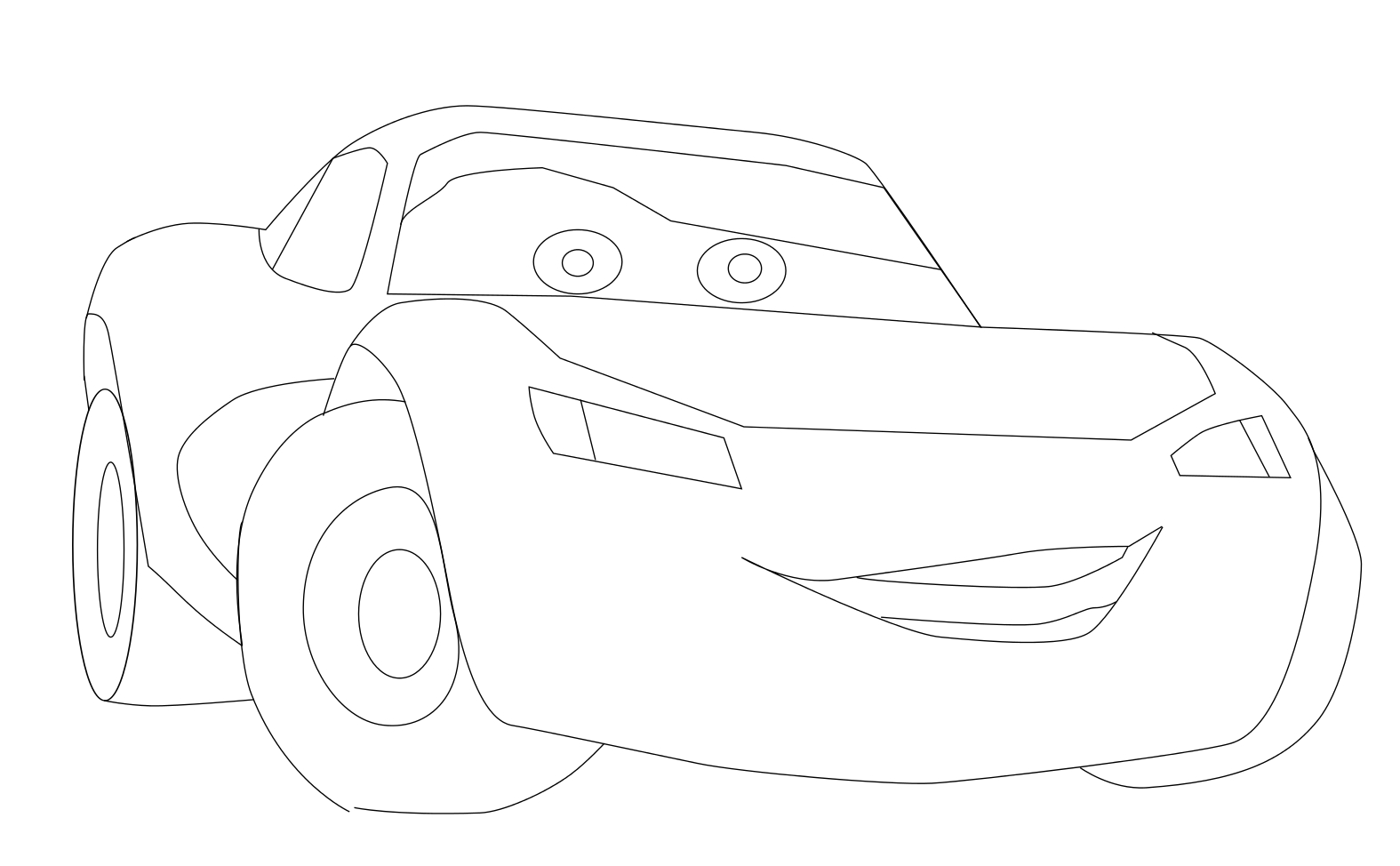 coloriage 9 dessin Cars Flash Mcqueen