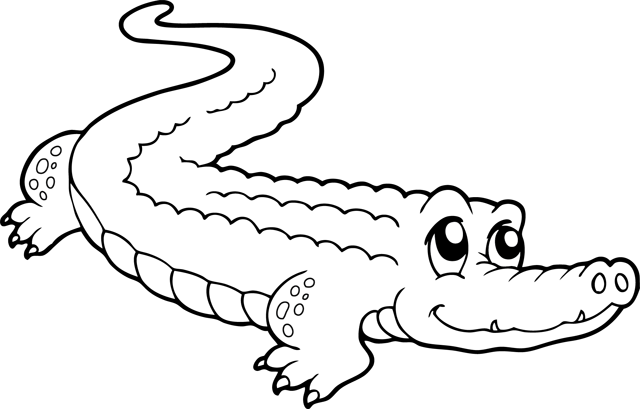 coloriage 5 dessin Crocodile