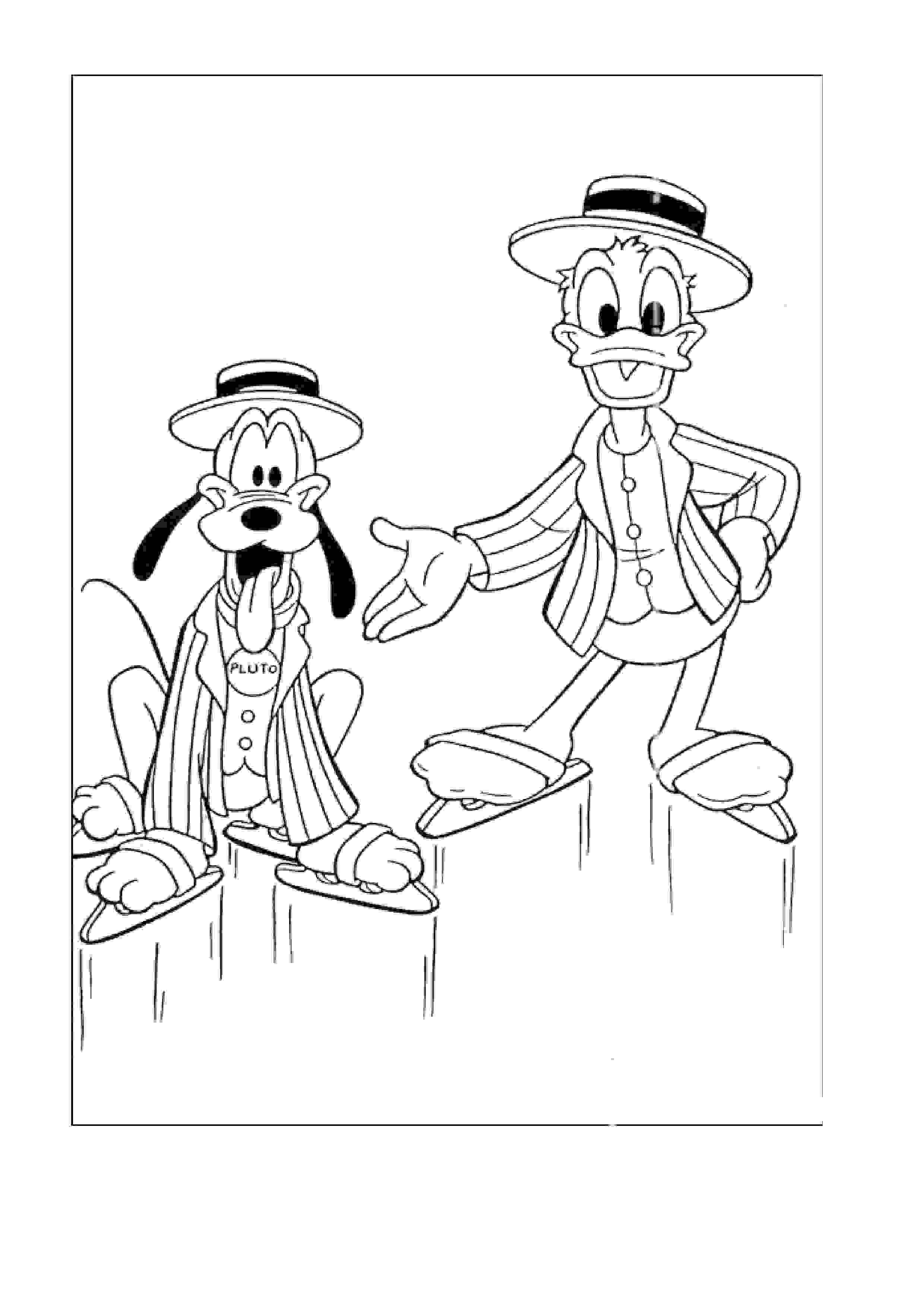 coloriage 37 dessin Donald Duck