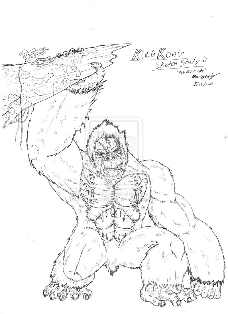coloriage 8 dessin King Kong