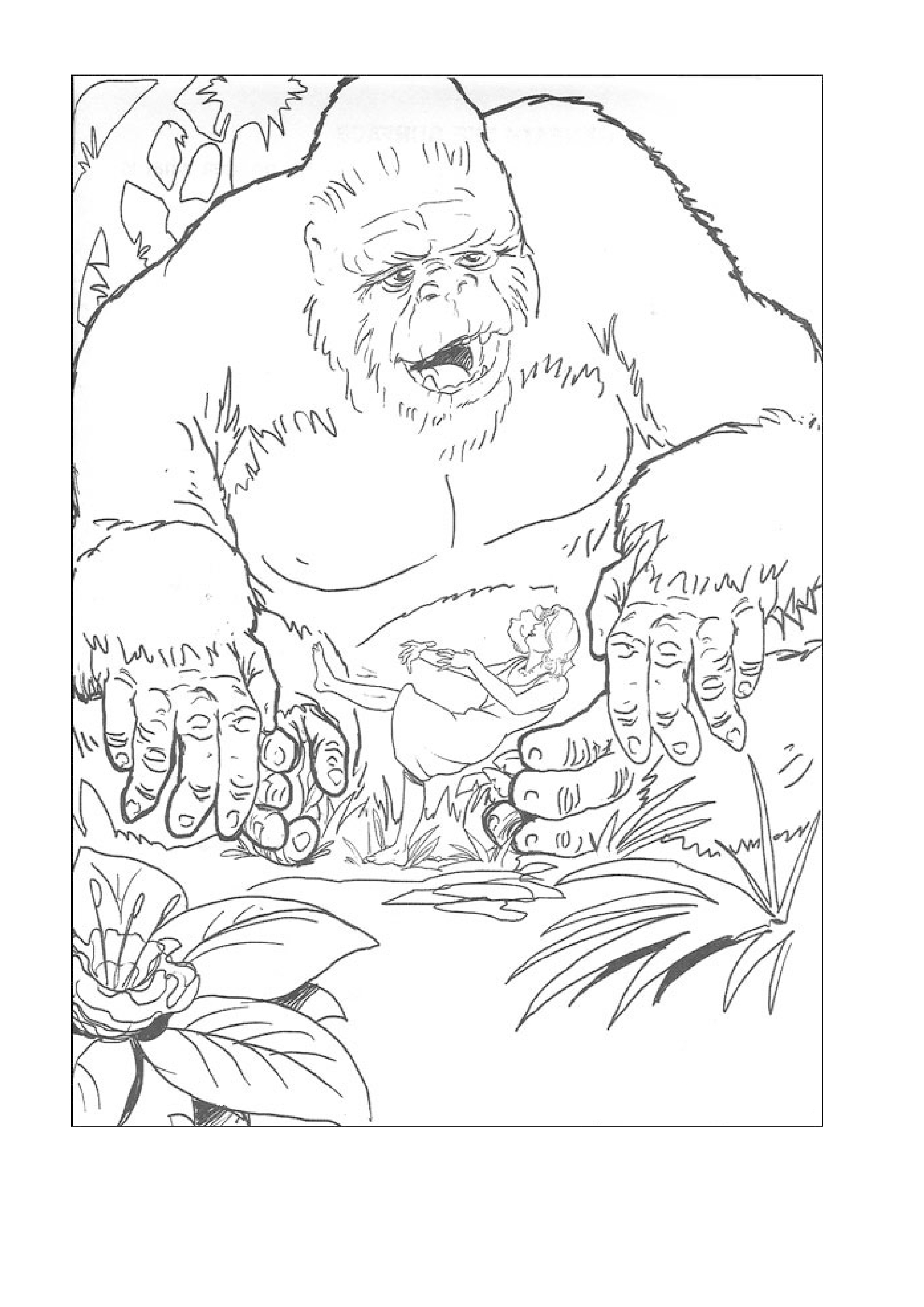 coloriage 9 dessin King Kong