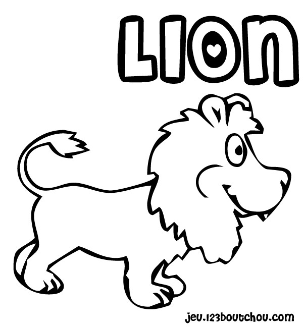 coloriage 7 dessin Lion
