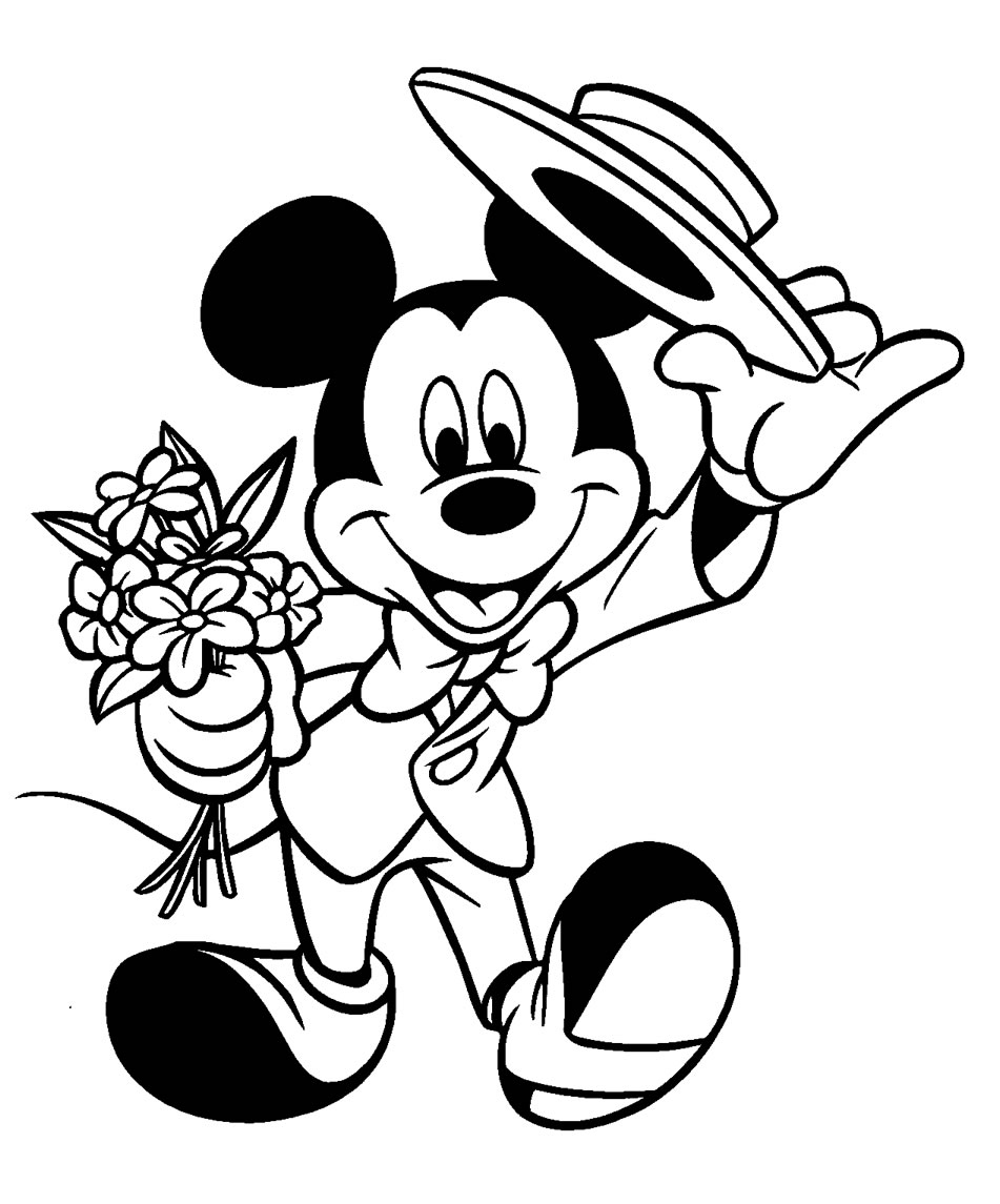 coloriage 7 dessin Mickey