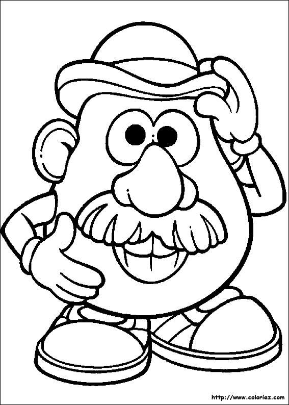 coloriage 1 dessin Monsieur Patate