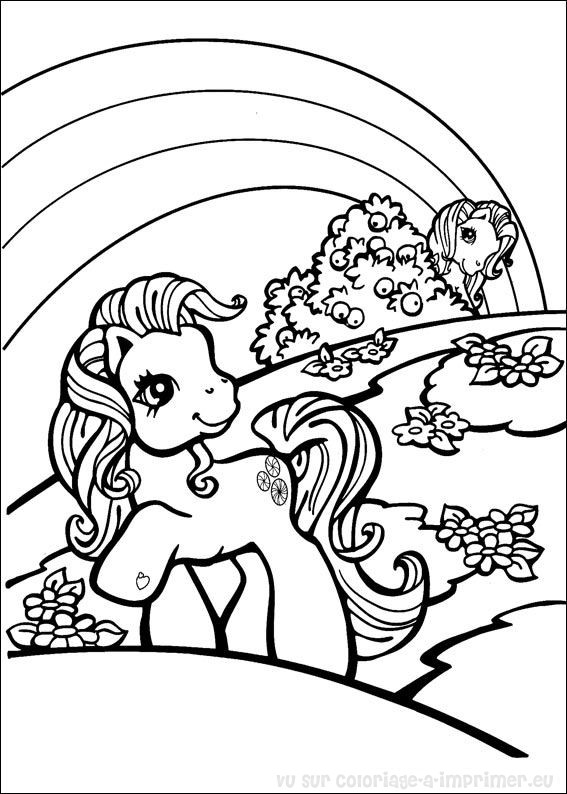 coloriage 13 dessin Petit Poney