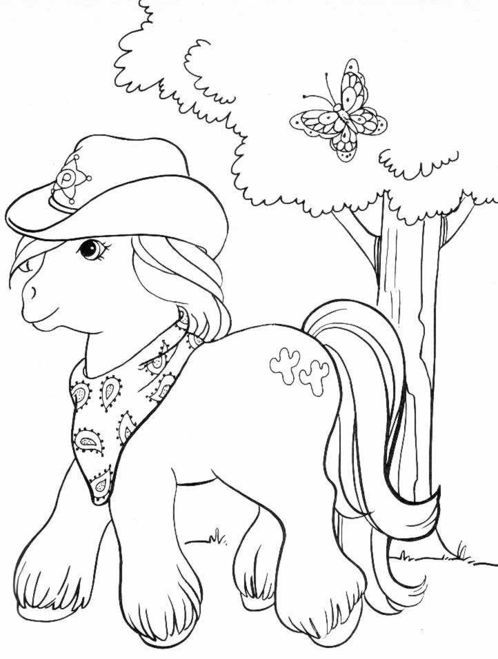 coloriage 28 dessin Petit Poney
