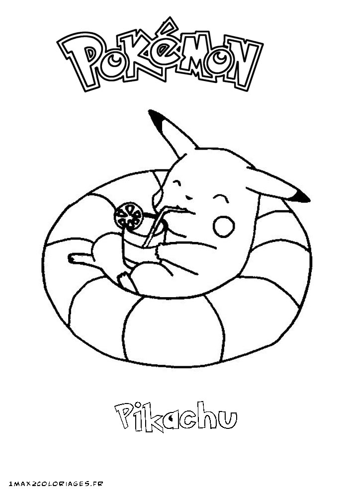 coloriage 6 dessin Pokemon Pikachu