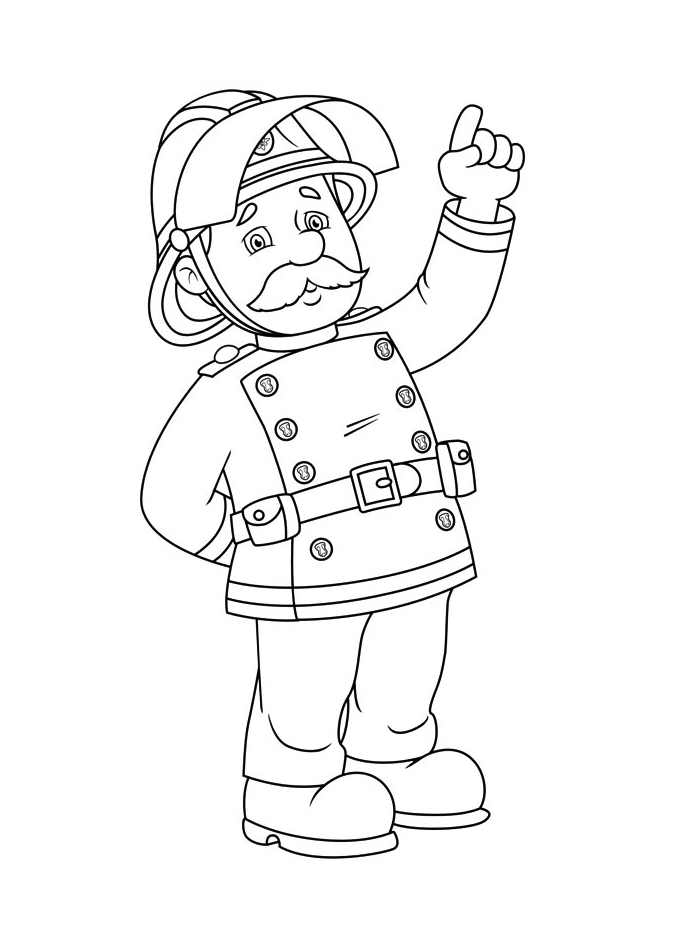 coloring book pages fireman - photo#20