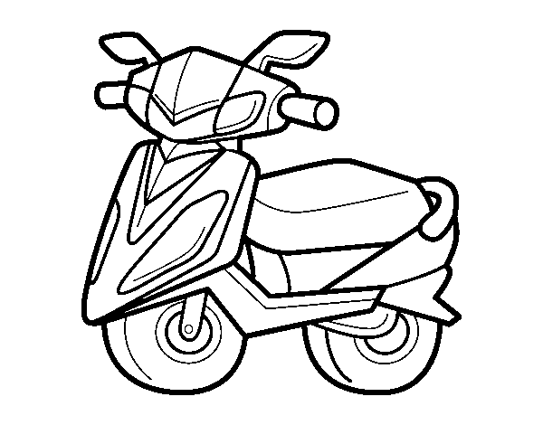 coloriage 7 dessin Scooter