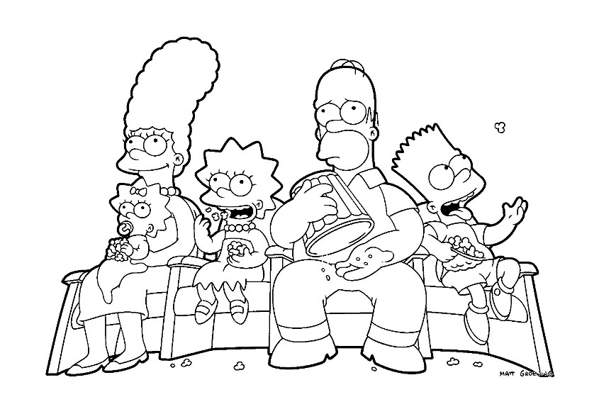 Coloriage simpson les beaux dessins de dessin anim - Simpson a colorier ...