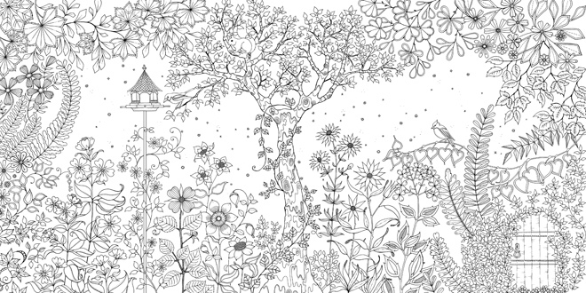 coloriage adulte jardin secret a imprimer