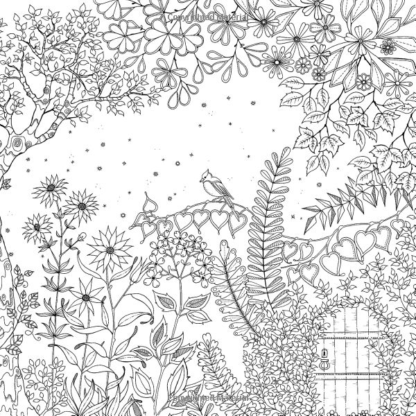 coloriage de adultejardin