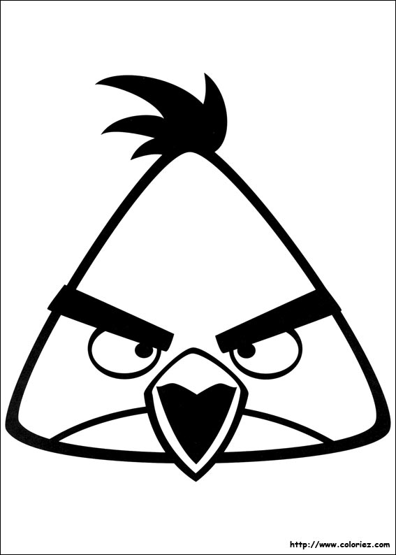 coloriage de angrybirds