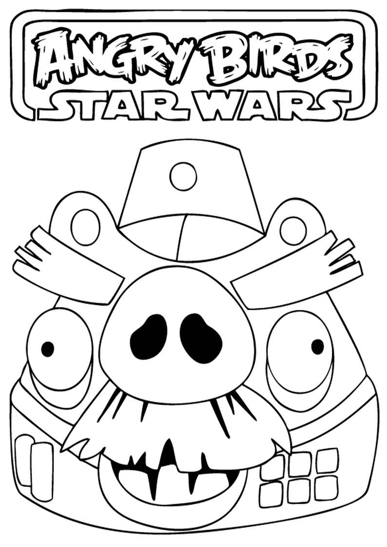 Kidsnfuncom  7 coloring pages of Angry Birds Star Wars