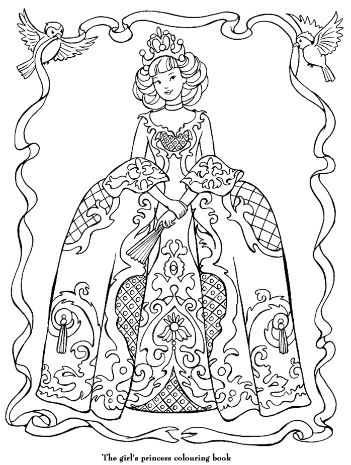 coloriage anti stress princesse