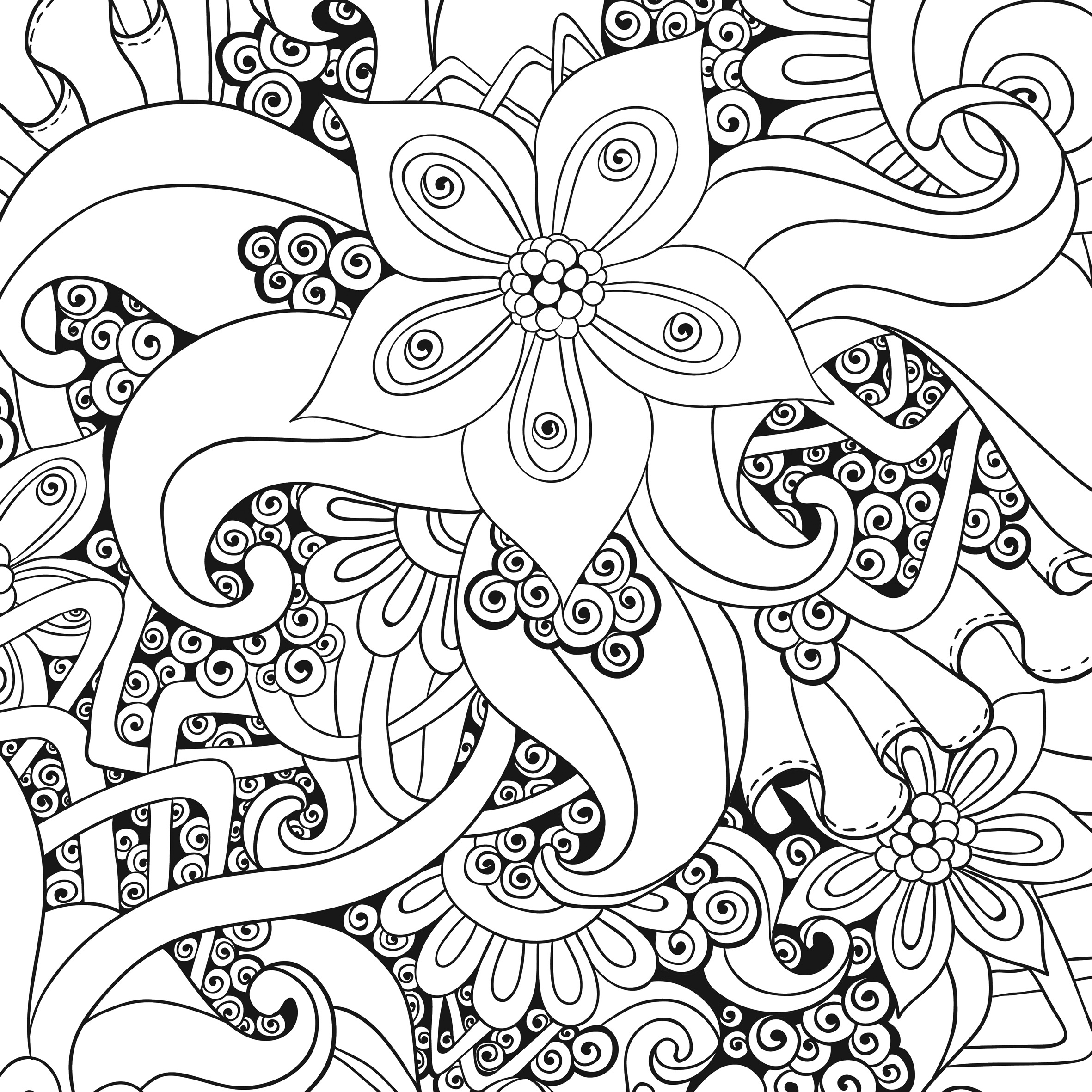 coloriage anti stress a numero