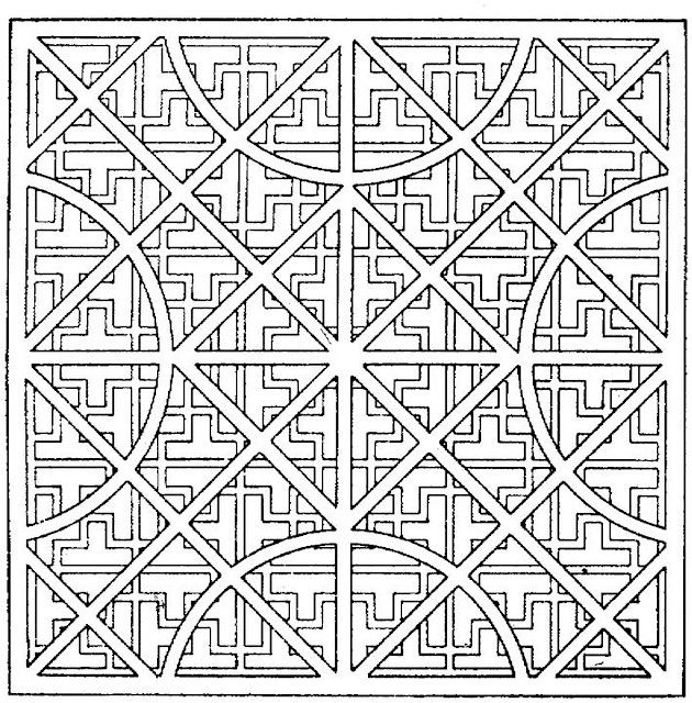 geometric coloring pages advanced nature - photo#30