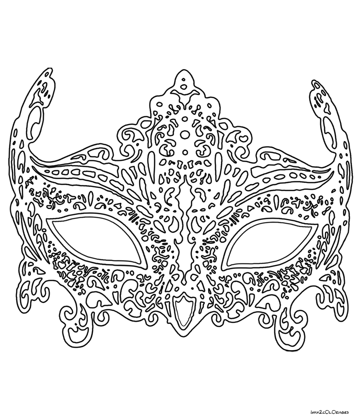 Coloriage anti stress masque - Anti coloriage ...