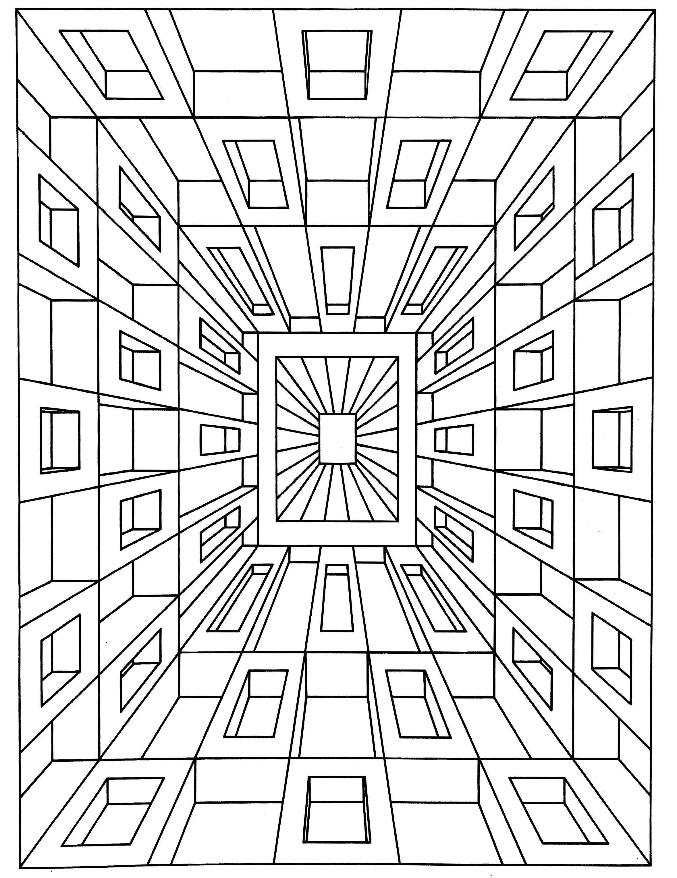vasarely coloring pages - photo#14