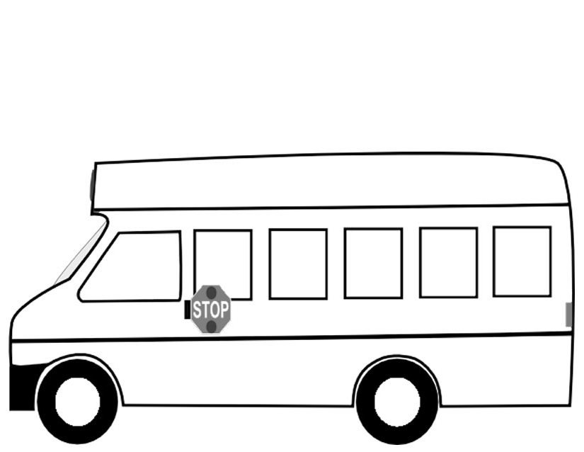 Coloriage autobus les beaux dessins de transport - Dessin d un bus ...