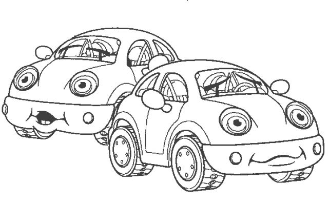 coloriage de autos