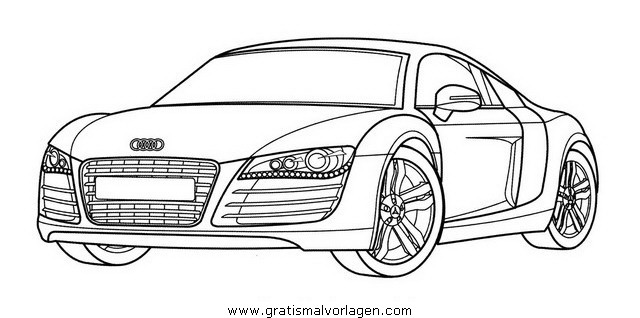 Coloriage autos les beaux dessins de transport - Coloriage audi r8 ...