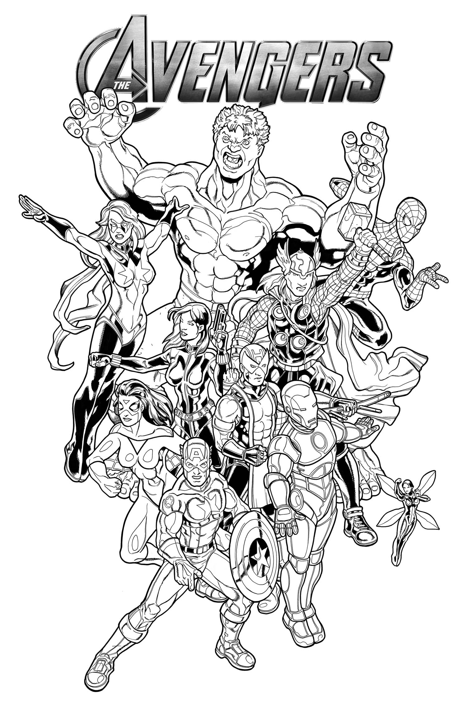 Coloriage avengers les beaux dessins de super h ros for Marvel hawkeye coloring pages