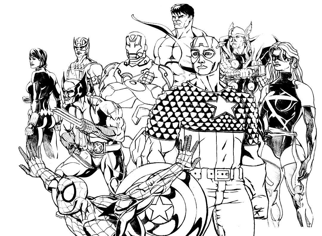 avengers coloring pages a4 - photo#24