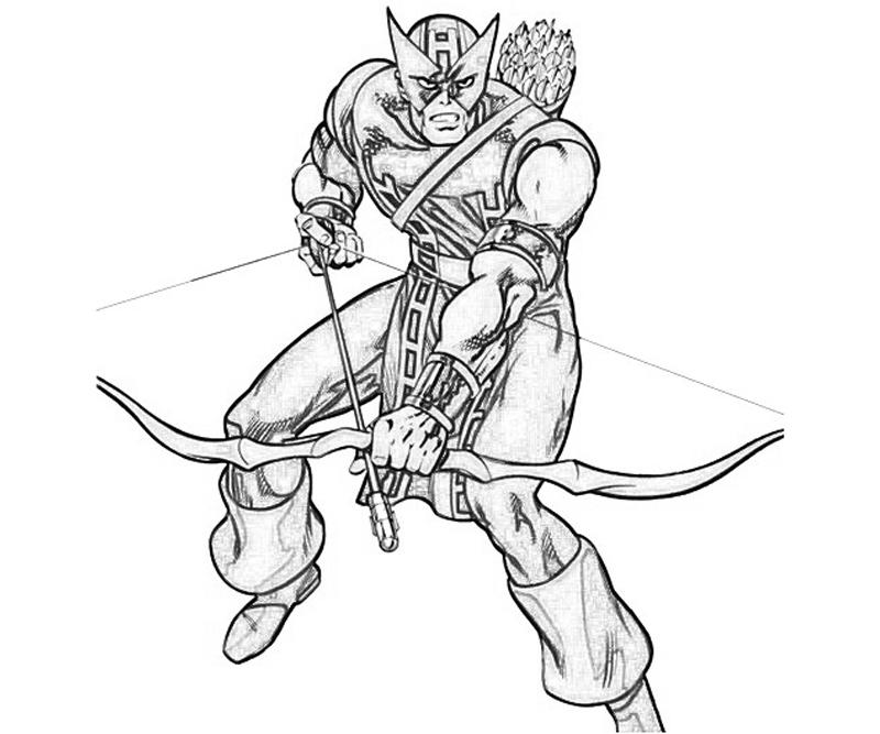 hawk guy coloring pages - photo#7