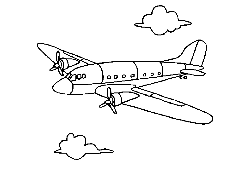 coloriage de avion