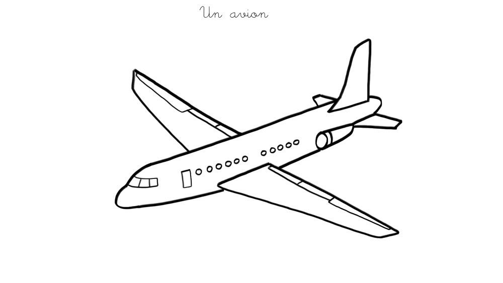 Coloriage avion les beaux dessins de transport - Dessins avions ...