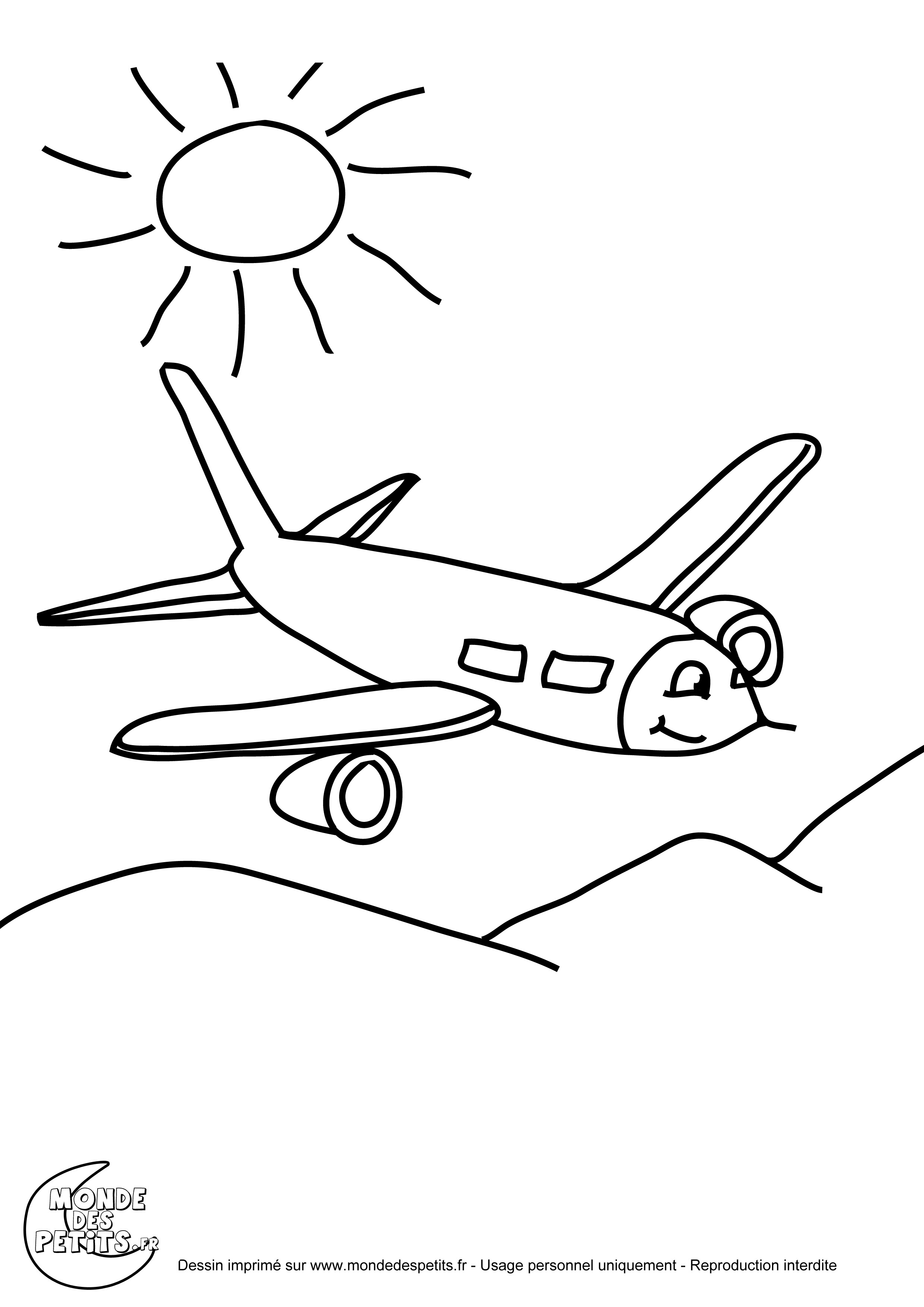 Coloriage Avion De Voltige.Coloriage Avion Les Beaux Dessins De Transport A Imprimer
