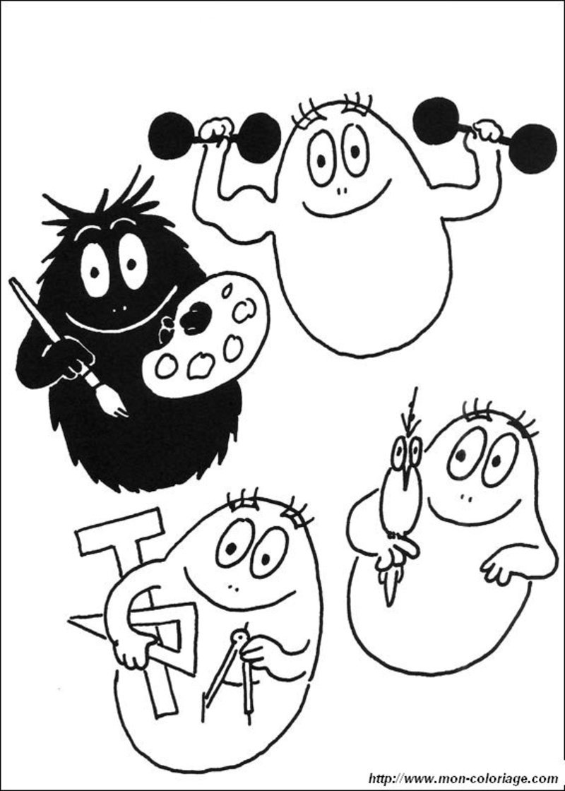 coloriage de barbapapa