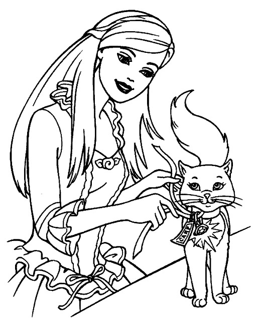 coloriage de barbie