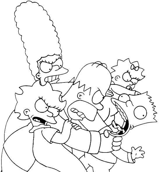 coloriage de bartsimpson