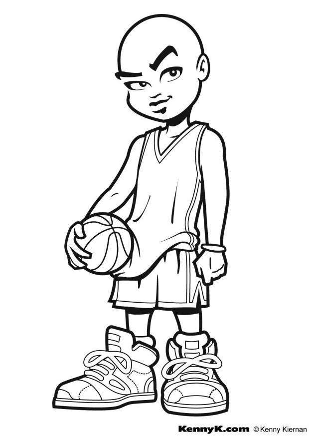 coloriage de basketball