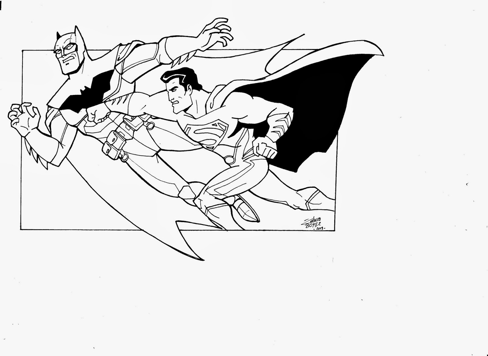 Coloriage batman les beaux dessins de super h ros imprimer et colorier page 49 - Superman et batman dessin anime ...