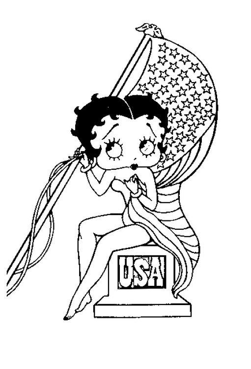 coloriage de bettyboop