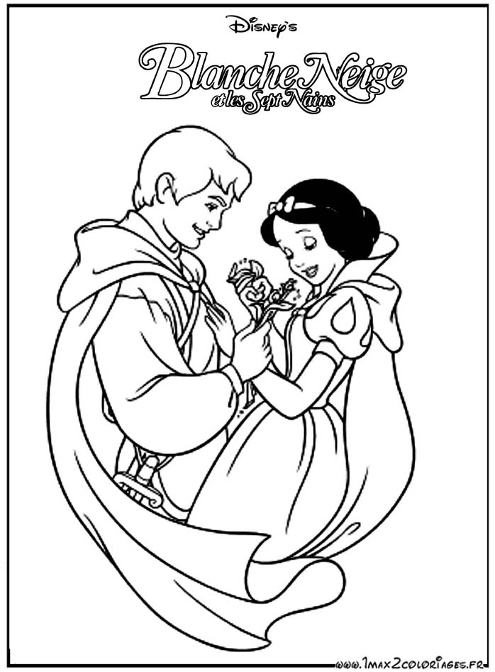 coloriage blanche neige les beaux dessins de disney imprimer et colorier. Black Bedroom Furniture Sets. Home Design Ideas