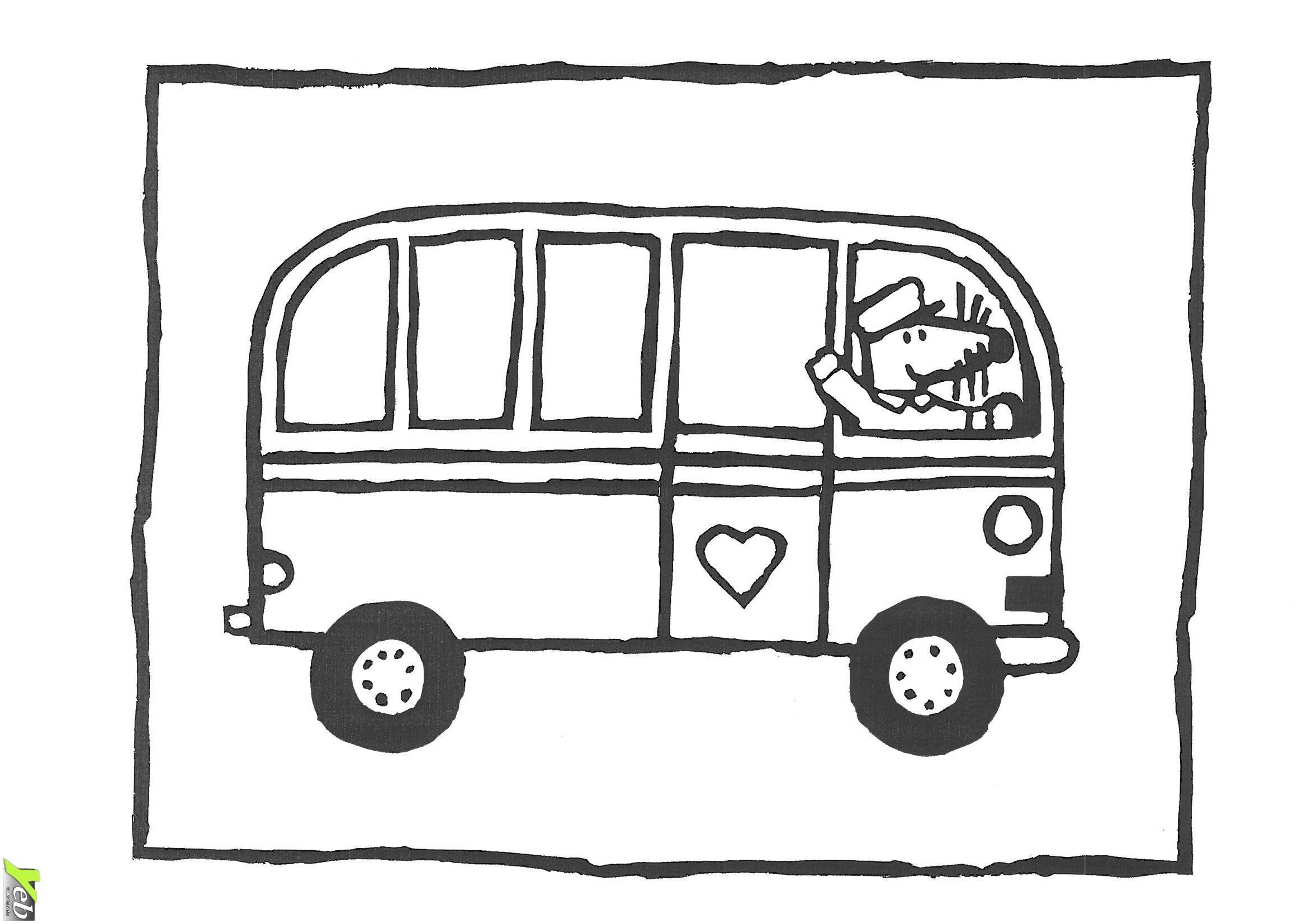 Coloriage bus enfant les beaux dessins de transport imprimer et colorier - Dessin de transport ...