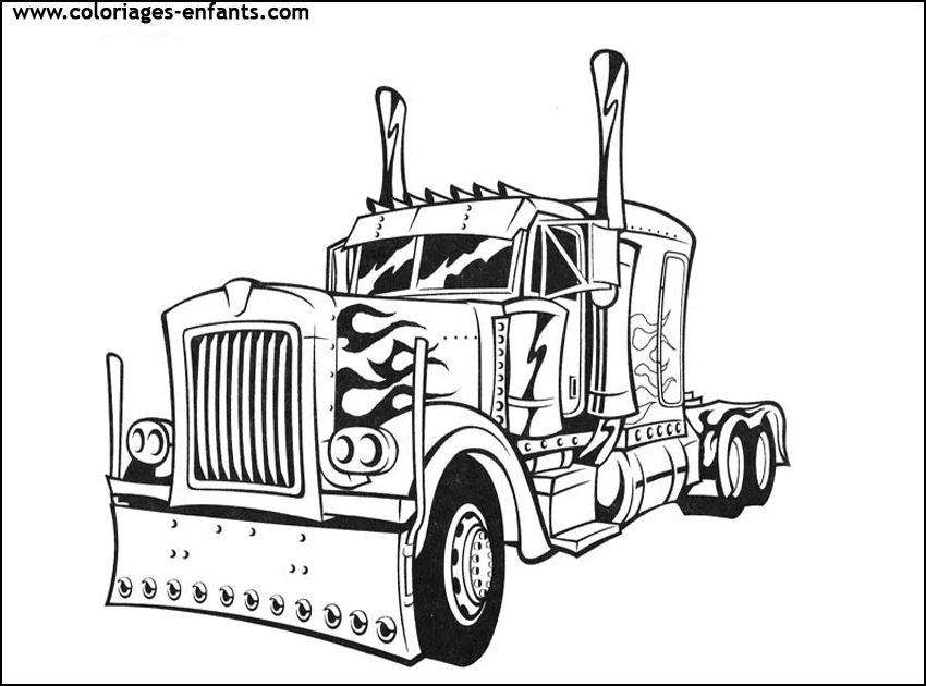 Bien-aimé Coloriage Camion. Awesome Grand Camion Benne Colorier With  TW47