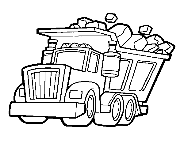 Coloriage Camionnette Les Beaux Dessins De Transport 224