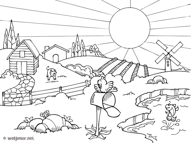 Coloriage campagne les beaux dessins de nature for Photo la nature gratuit