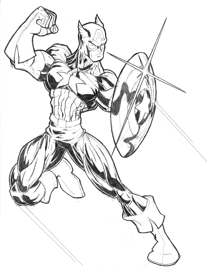 coloriage de captainamerica