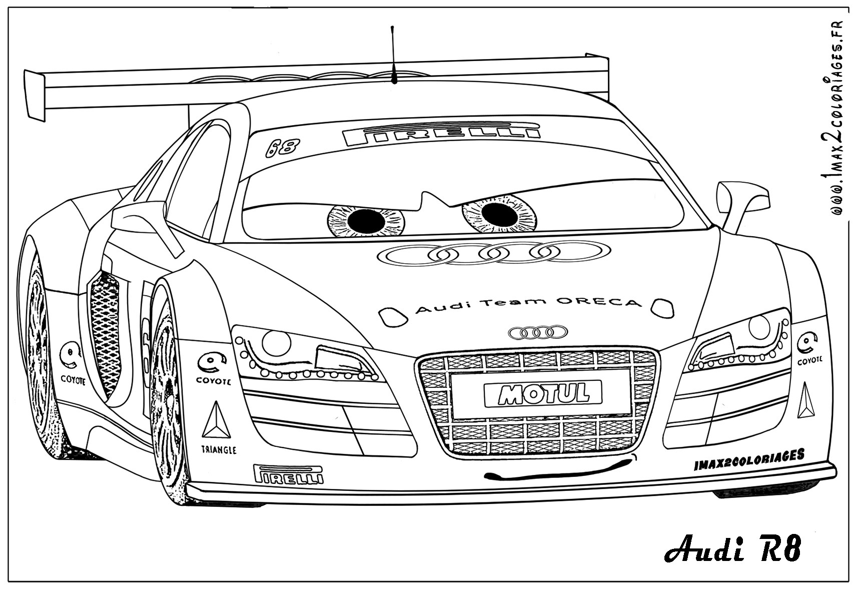 coloriage de cars