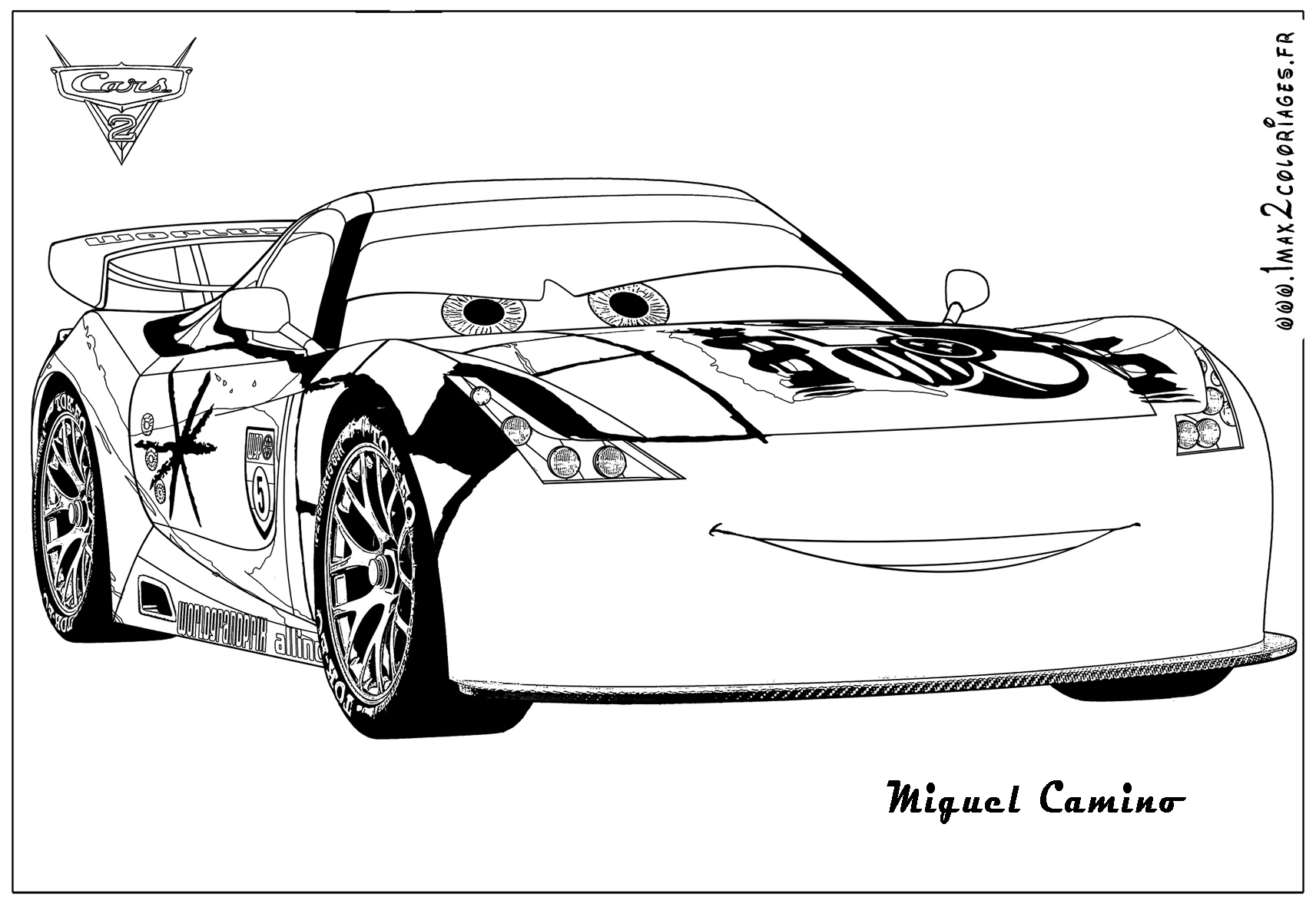 Luxe Dessin A Colorier Cars 2