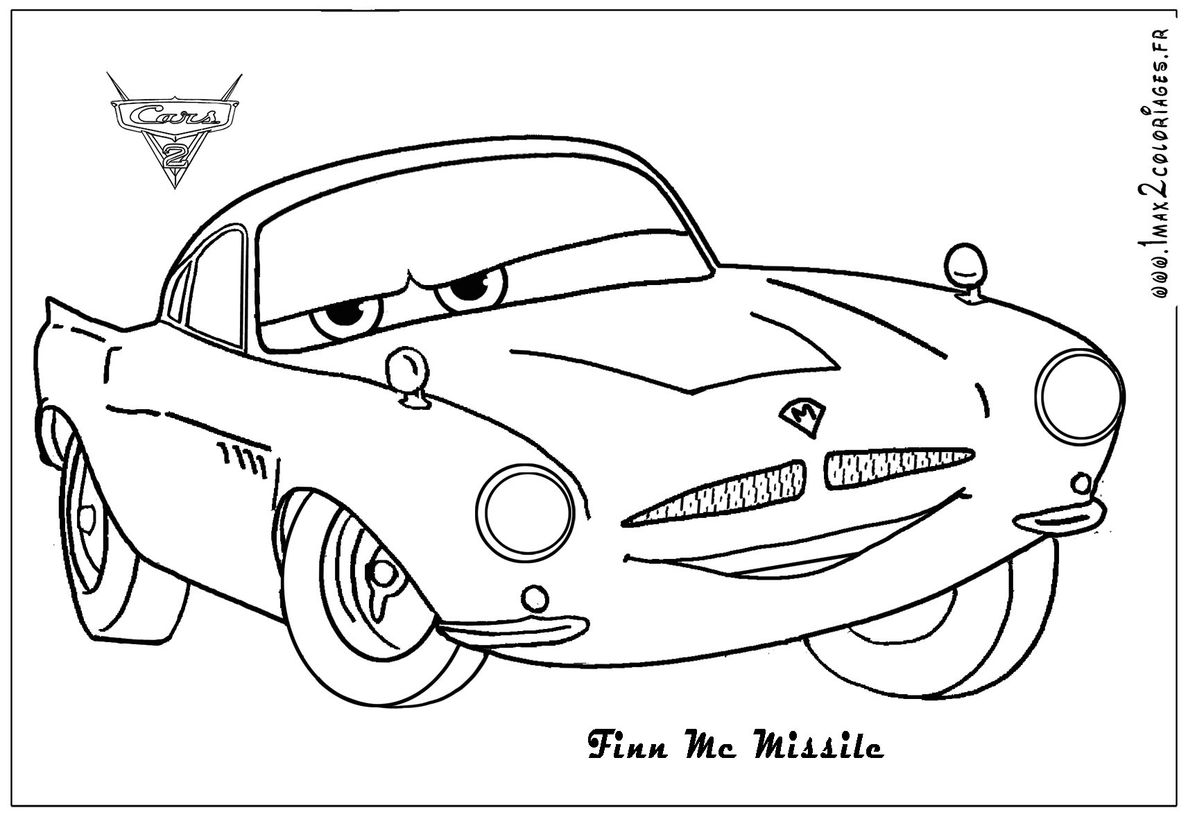 Coloriage Cars Flash Mcqueen